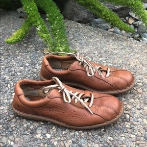 Born Brown Leather Casual Bowling Lace Up Oxfords